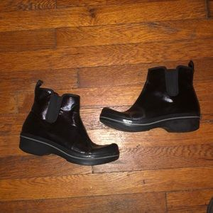 Dansko Coated canvas ankle boots booties sz 38 7.5